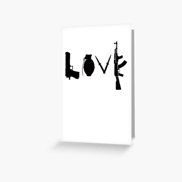 Banksy Love Guns Greeting Card