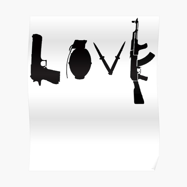 Banksy Love Guns Poster