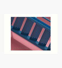Flamingo Airport Stairs Art Print