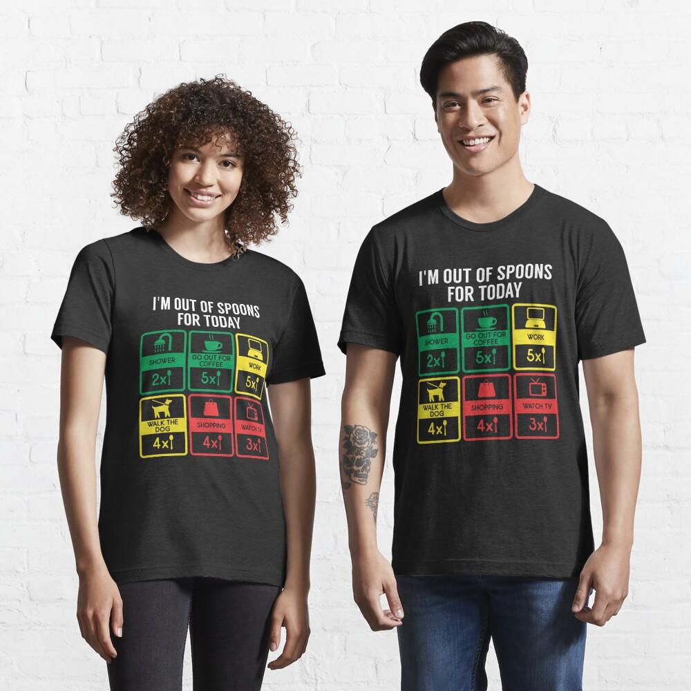 Out Of Spoons Autoimmune Disease - Autoimmune Disease Gift Essential T-Shirt