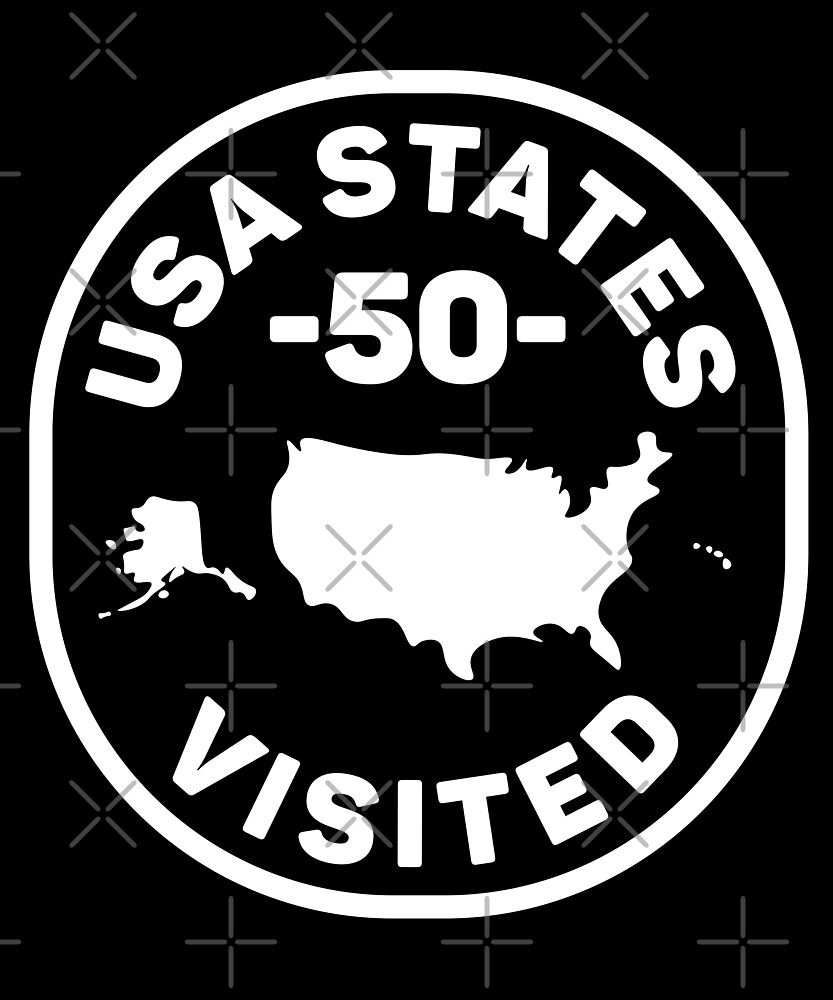 All 50 USA States Visited by designkitsch