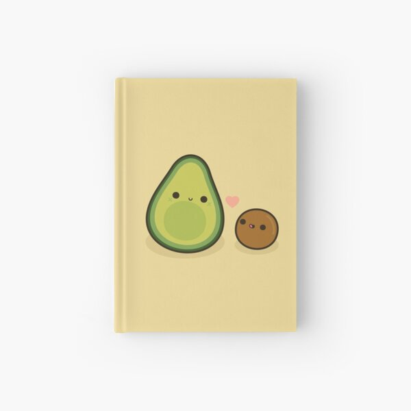 Cute avocado and stone Hardcover Journal