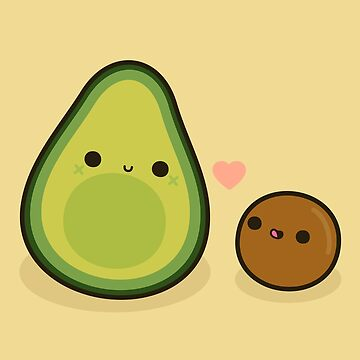 Cute avocado and stone by peppermintpopuk