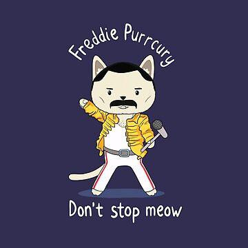 Don't Stop Meow! Cute Freddie Cat in Yellow Jacket by pickledjo