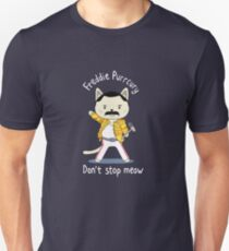 Don't Stop Meow! Cute Freddie Cat in Yellow Jacket Unisex T-Shirt