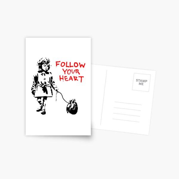 Banksy Follow Your Heart Postcard