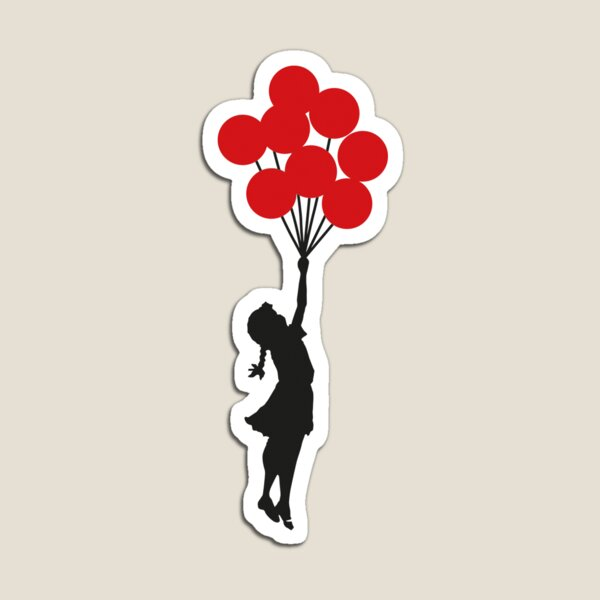 Banksy Balloon Girl Magnet