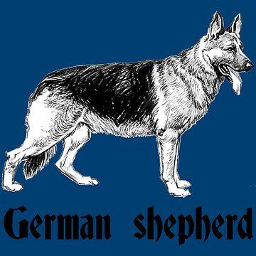 German shepherd dog lover doggo by untagged-shop