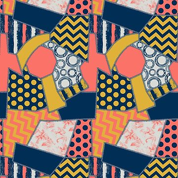 crazy quilt limited palette  by B0red