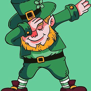 Dabbing Leprechaun St Patrick's Day Ireland Gift by Rueb