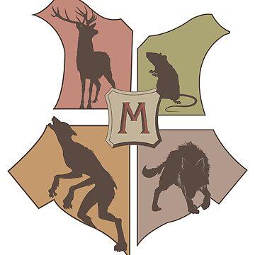La silueta del logo de los Marauders. de blurbox