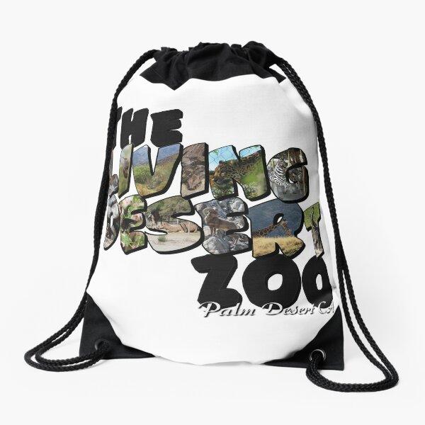 The Living Desert Zoo Big Letter Drawstring Bag