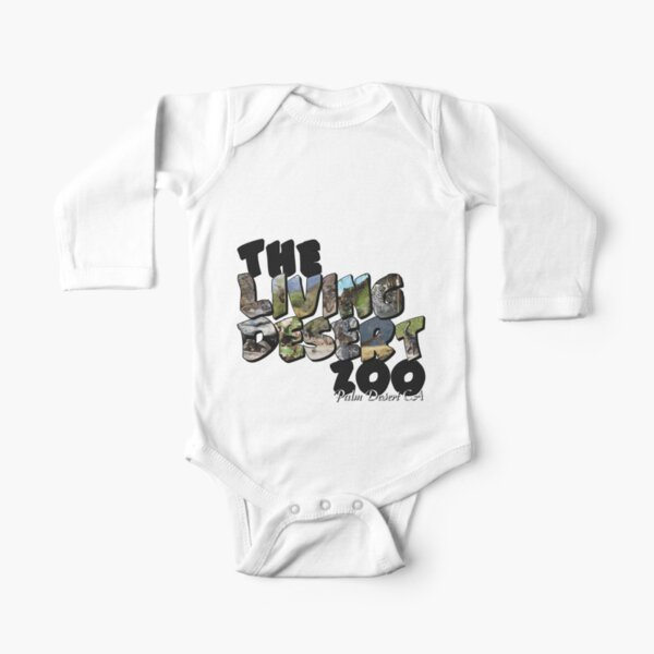 The Living Desert Zoo Big Letter Long Sleeve Baby One-Piece