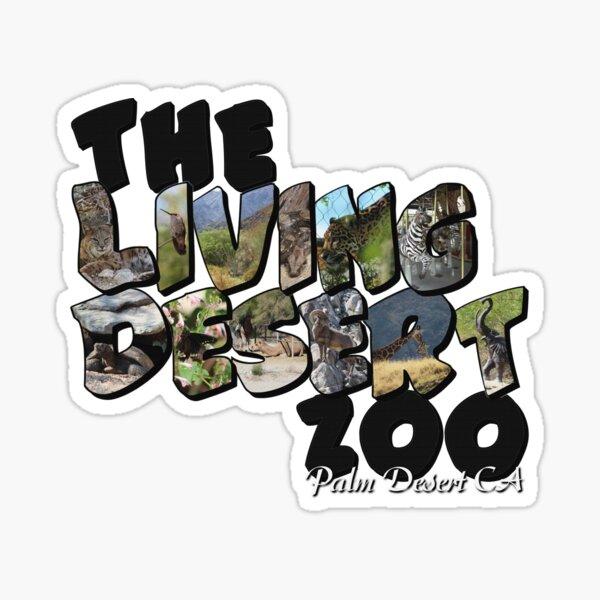The Living Desert Zoo Big Letter Sticker