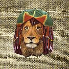 Rastafarian-wildlife lion humor design by NadineMay