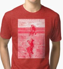Protomartyr (red engraving) Tri-blend T-Shirt