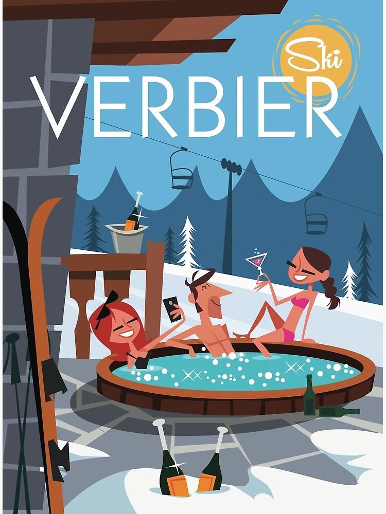 Ski Verbier Poster by GAGodel