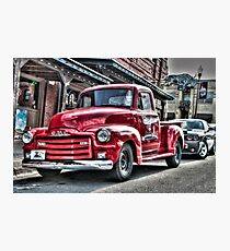 Red Pickup Photographic Print