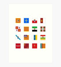 España Simplified - Transparent Art Print