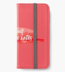 note to self 2 iPhone Wallet/Case/Skin