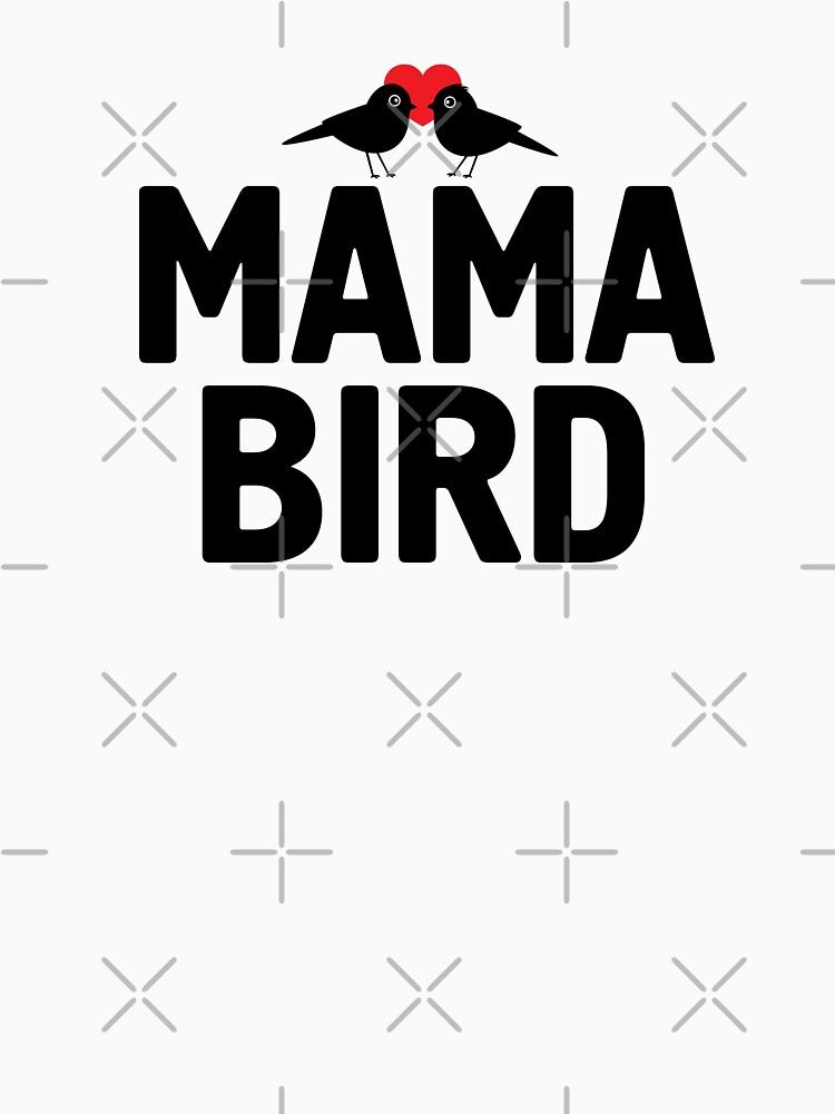 Mama Bird T Shirt with Birdies   Valentine's Day Gift Idea by -WaD-
