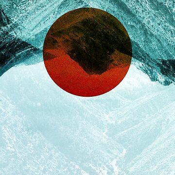 Found in mountain Isolation Photo manipulation / Blue illustration by stohitro