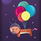 Galaxy dog with balloons by ShowMeMars