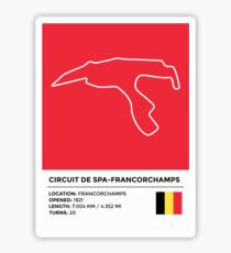 Circuit de Spa-Francorchamps - v2 Sticker