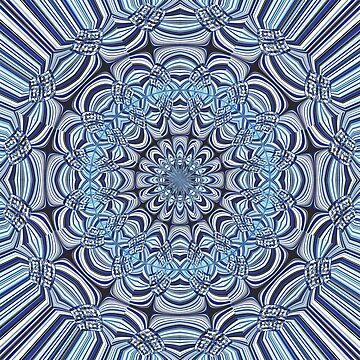Blue mandala by gavila