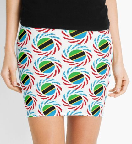Tanzanian American Multinational Patriot Flag Series Mini Skirt