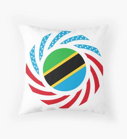 Tanzanian American Multinational Patriot Flag Series Throw Pillow
