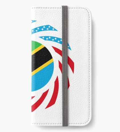 Tanzanian American Multinational Patriot Flag Series iPhone Wallet