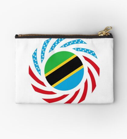 Tanzanian American Multinational Patriot Flag Series Zipper Pouch