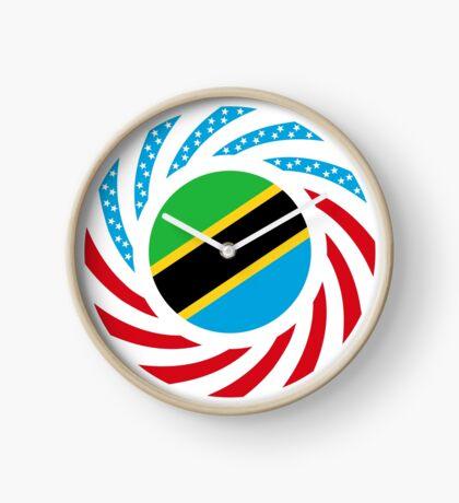 Tanzanian American Multinational Patriot Flag Series Clock