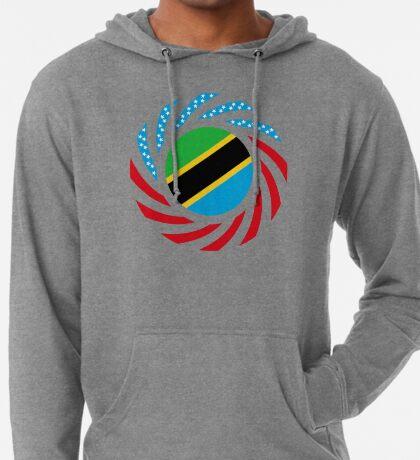 Tanzanian American Multinational Patriot Flag Series Lightweight Hoodie