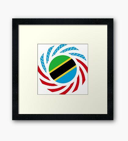 Tanzanian American Multinational Patriot Flag Series Framed Print