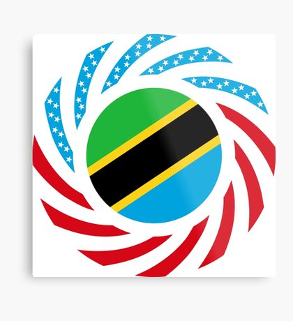 Tanzanian American Multinational Patriot Flag Series Metal Print
