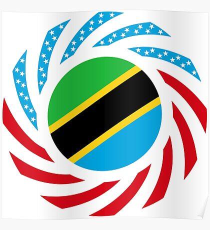 Tanzanian American Multinational Patriot Flag Series Poster