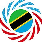 Tanzanian American Multinational Patriot Flag Series by Carbon-Fibre Media