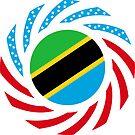 Tanzanian American Multinational Patriot Flag Series by Carbon-Fibre Media