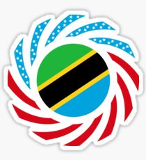 Tanzanian American Multinational Patriot Flag Series Sticker