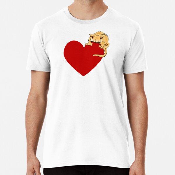 Gecko Love, Crested Gecko with Heart, Crestie, Cute Gecko, Cute Crested Gecko Premium T-Shirt