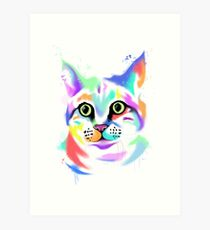 Rainbow Cat - Bagel Art Print