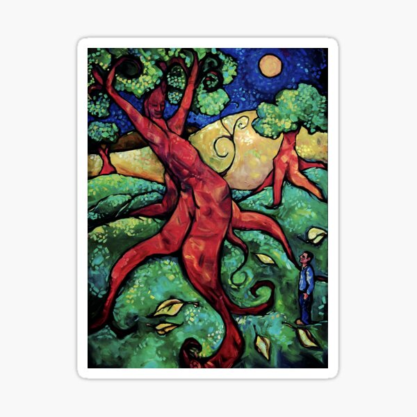 """Tree Dream"" by Chad Elliott Sticker"