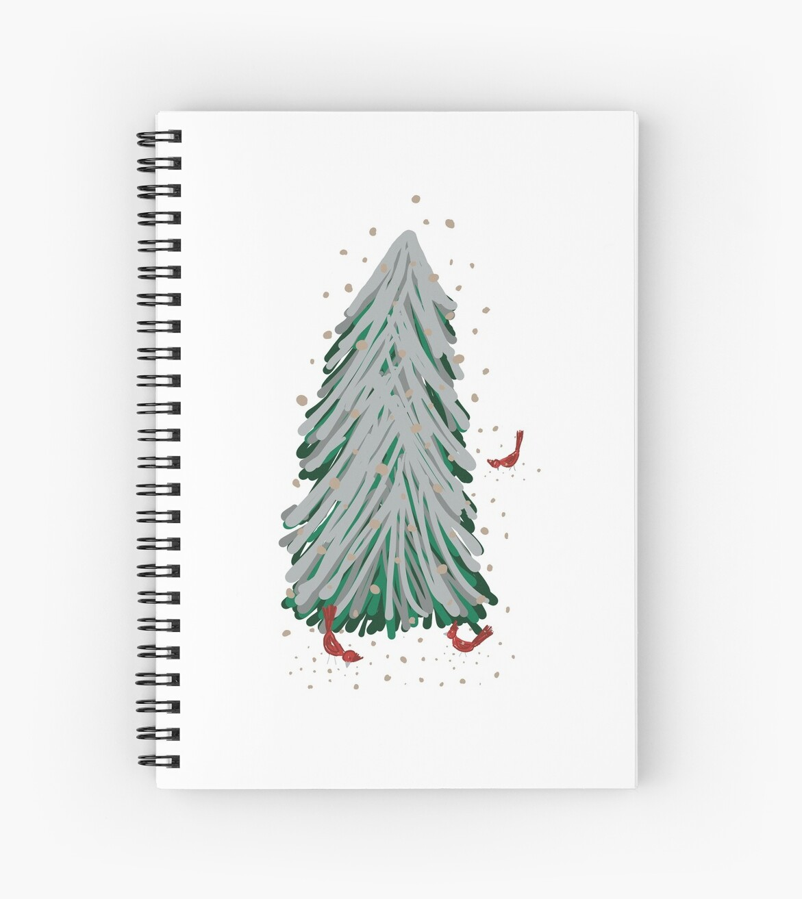 Winter Tree and Cardinals by BookTalkBecky