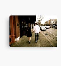 Kate and Nathan walk Canvas Print