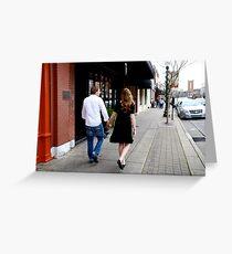 Kate and Nathan walk Greeting Card