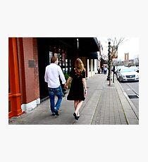 Kate and Nathan walk Photographic Print