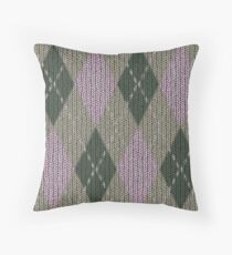 Pink Roses in Anzures 1 Argyle 1 Throw Pillow