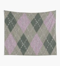 Pink Roses in Anzures 1 Argyle 1 Wall Tapestry